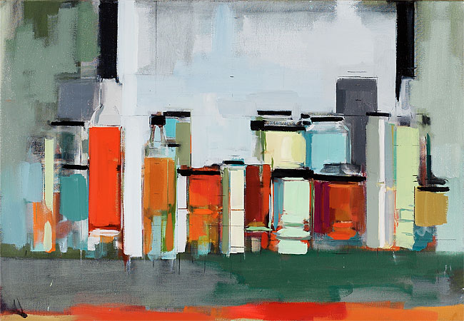 painting'13Bottles&JarsXXXII22x32 copy 2.jpg