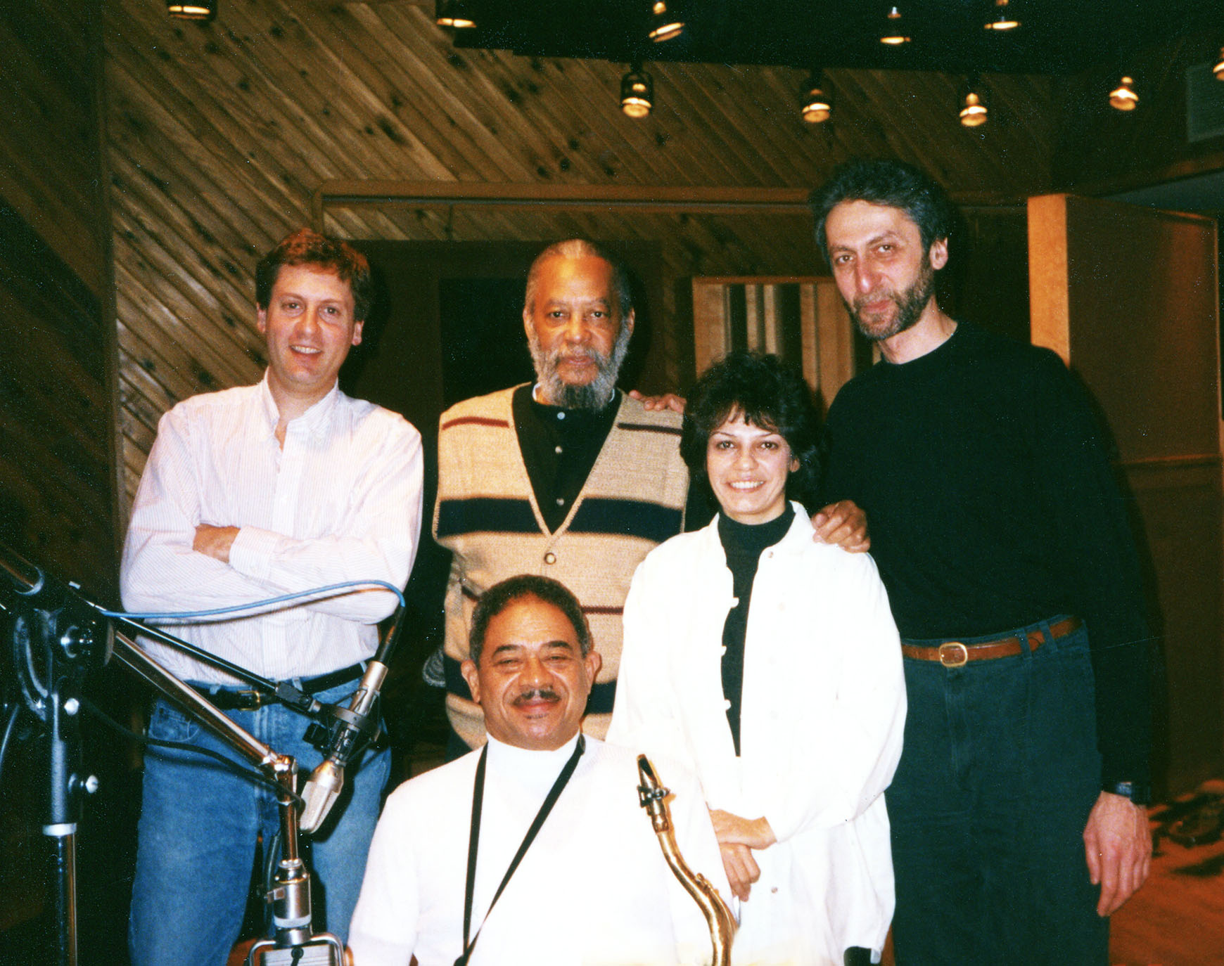 Datevik with American hard bop drummer,  Ben Riley , and jazz pianist,  Armen Donelian , guitarist,  David Finck , and the late  jazz saxophonist and flautist,  Frank Wess .