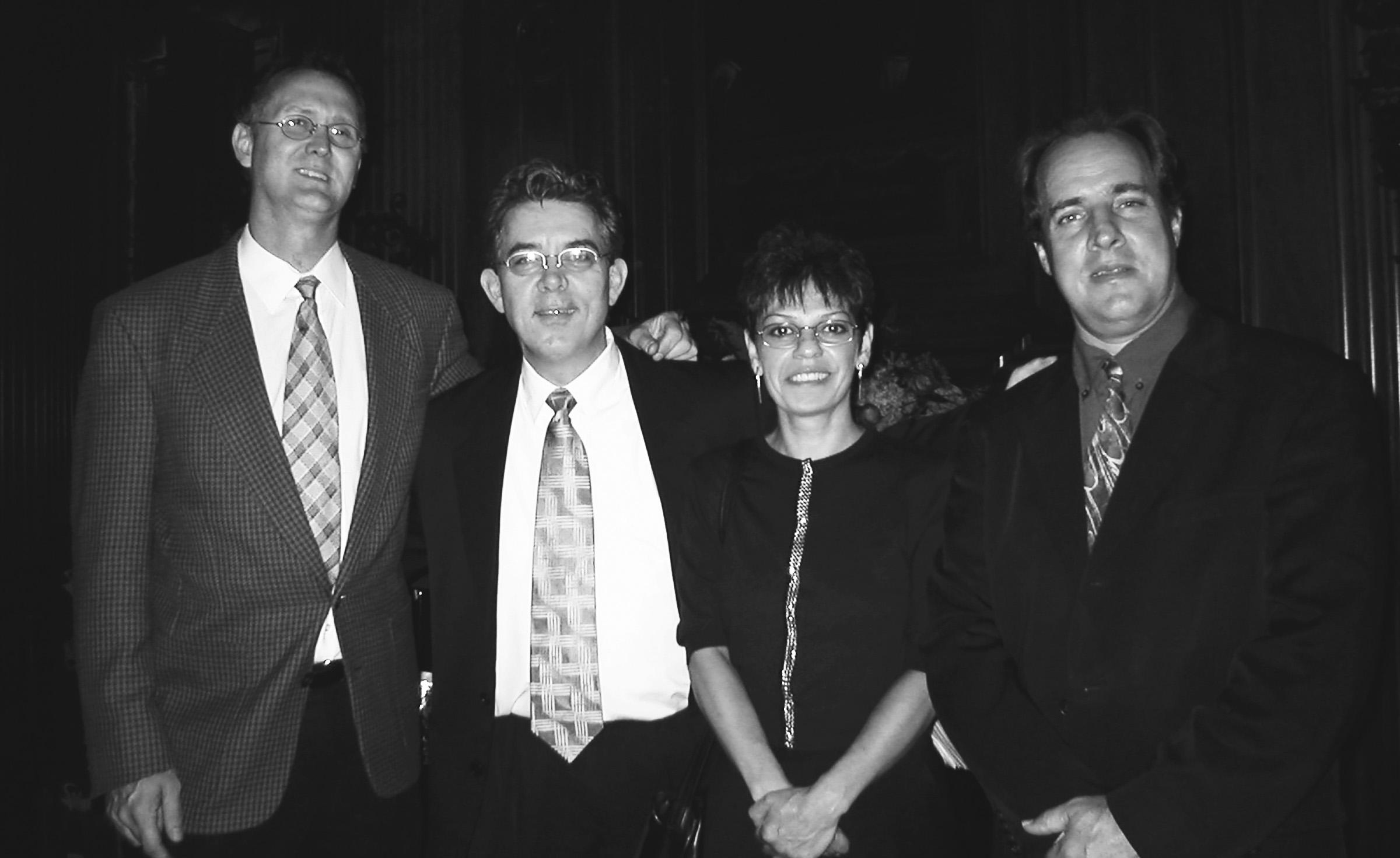 Datevik with hertrio,Bob Albanese,Joe Fitzgerald, andDavid Meade.