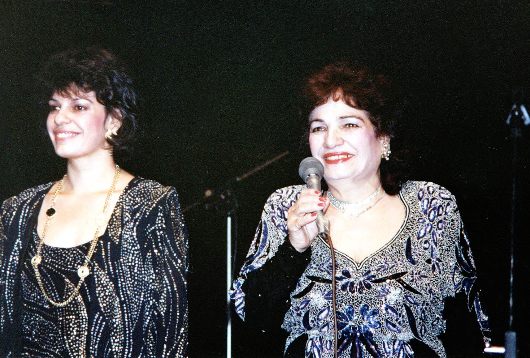 Datevik with her mother,Armenian legendaryaward-winningsinger, Ophelia Hambartsumyan.