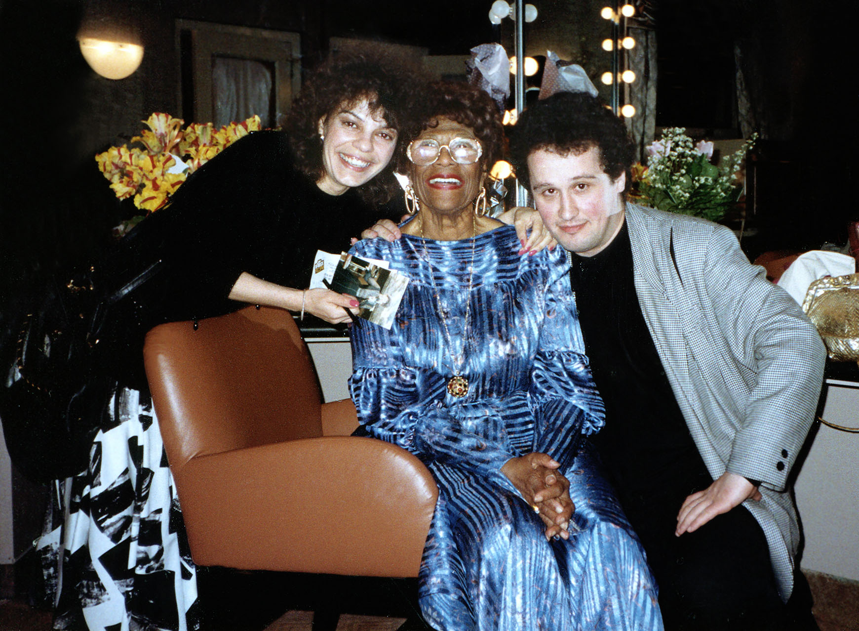 Datevik with legendary jazz singer, Ella Fitzgerald , often referred to as the First Lady of Song, Queen of Jazz, and Lady Ella.