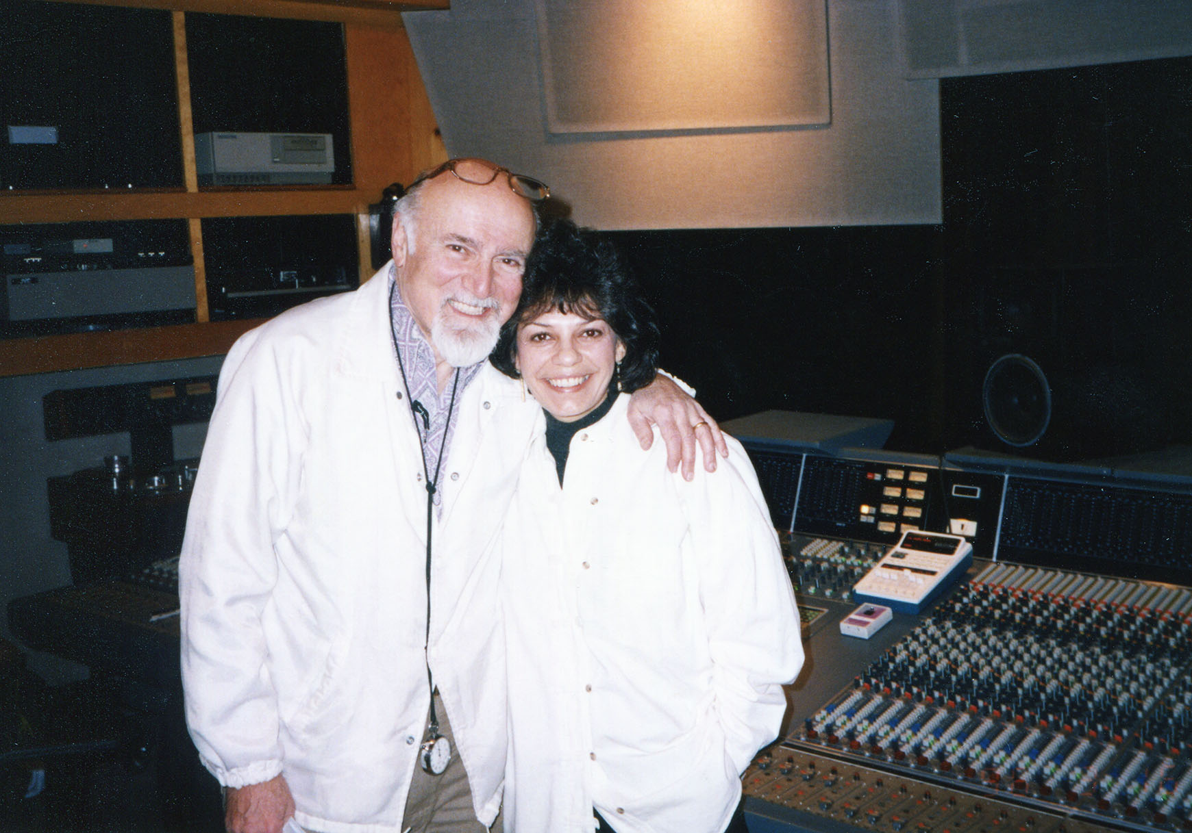 Datevik in the studio with  record producer,   George Avakian .