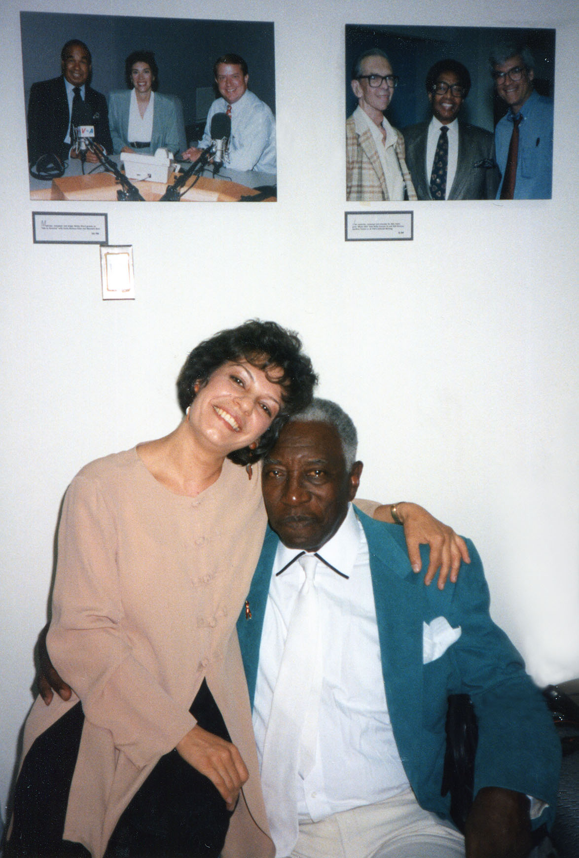Datevik with the late jazz singer, Joe Williams.