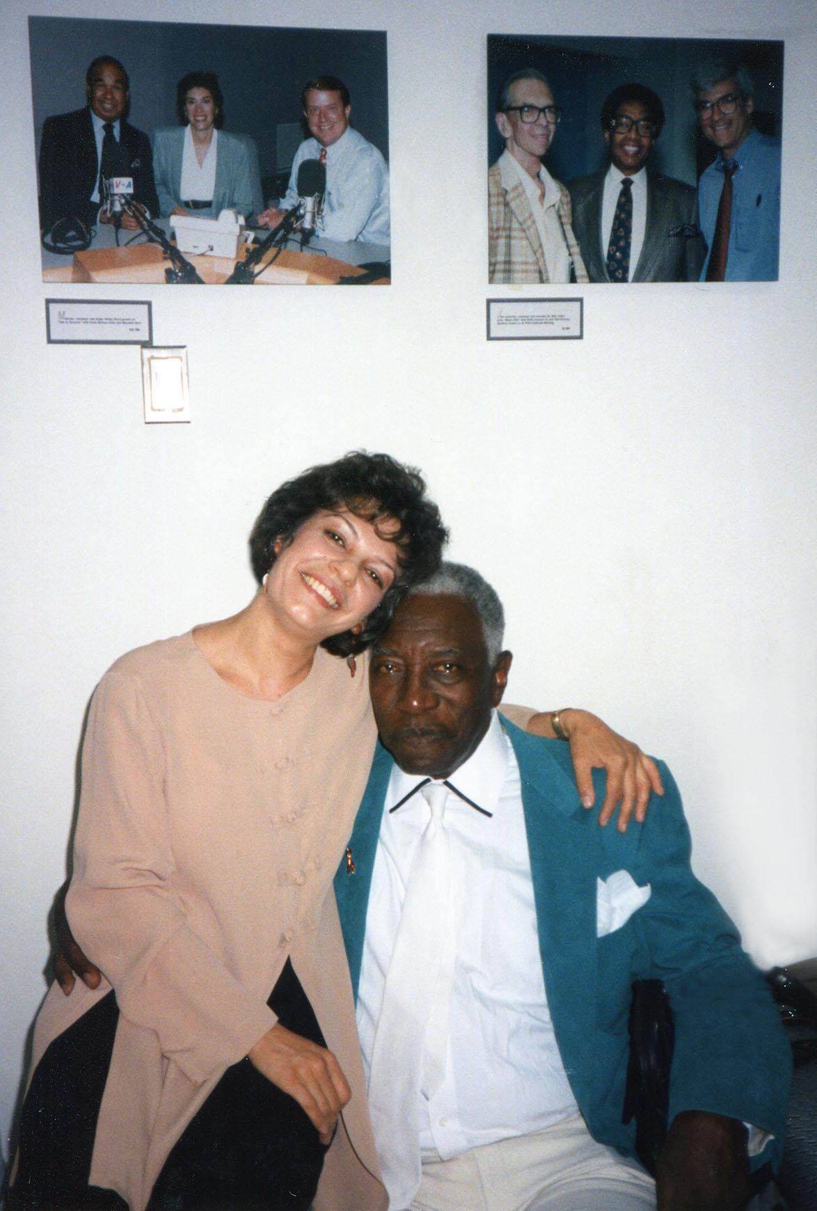 Datevik with the late jazz singer,Joe Williams.