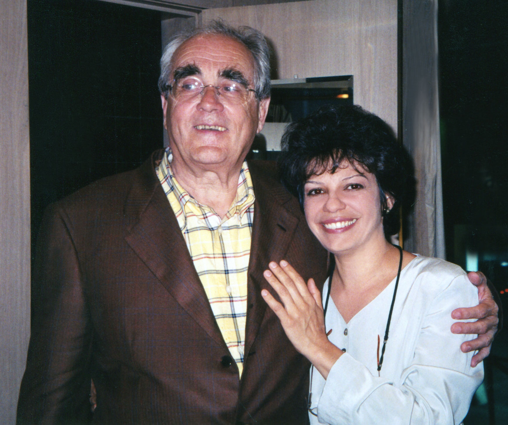 Datevik with French composer, arranger, conductor, and pianist,  Michele Legrand .