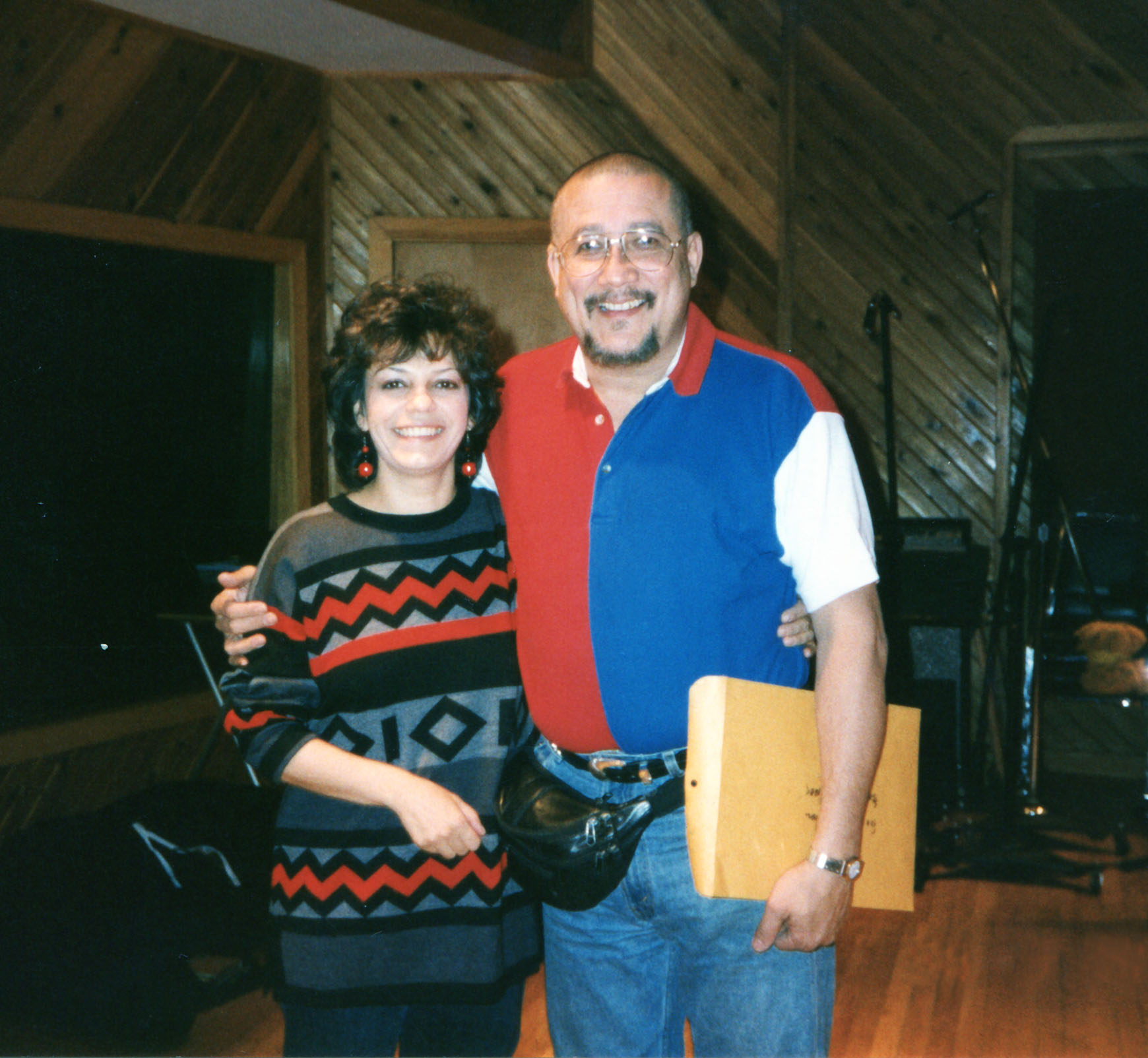 Datevik with  saxophonist andclarinetist,  Paquito D'Rivera .