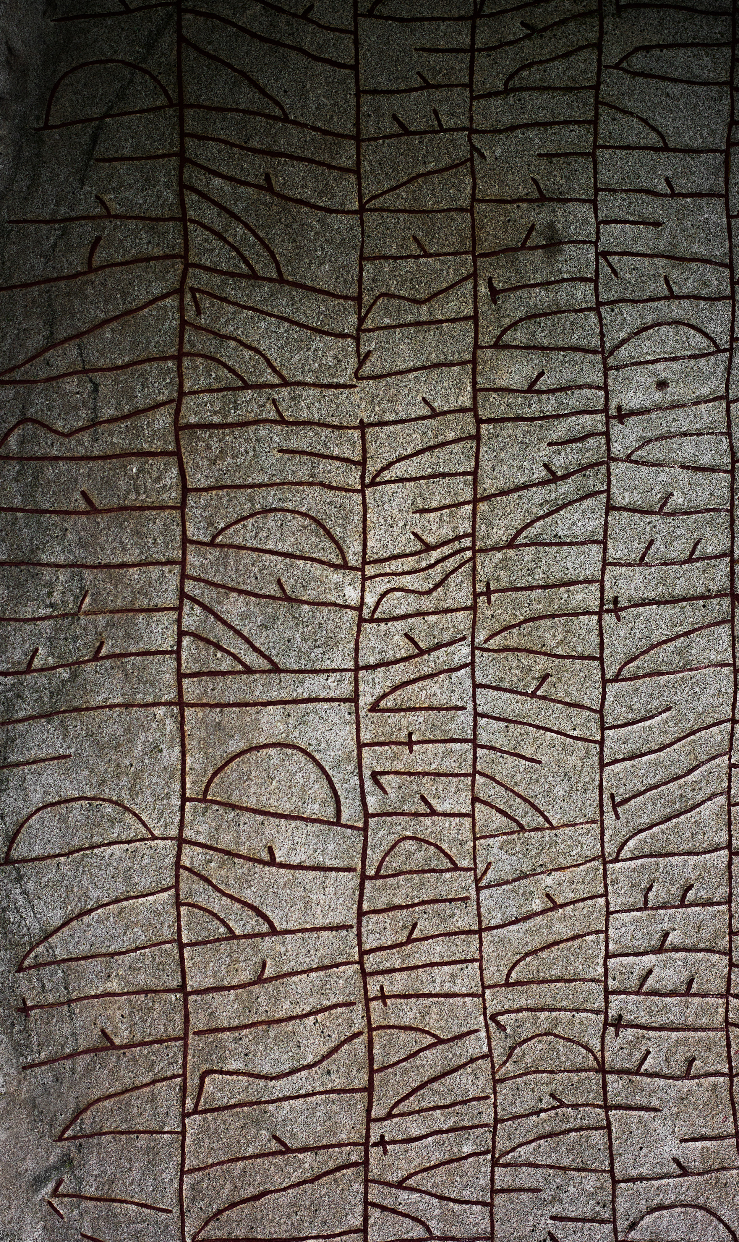 Detail of the  Rök Runestone  by Forndom, 2015. Used by permission of the artist.