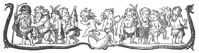 Whimsical dwarf lineup—and why not? Icon image and this image by Lorenz Frølich, 1895  via Wikimedia Commons .