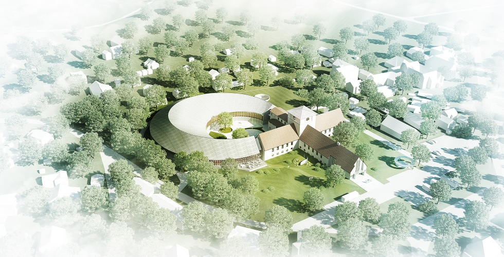 AART's rendering of  Naust ,the firm's proposed expansion of the Viking Ship Museum, Oslo, Norway. Image : AART.