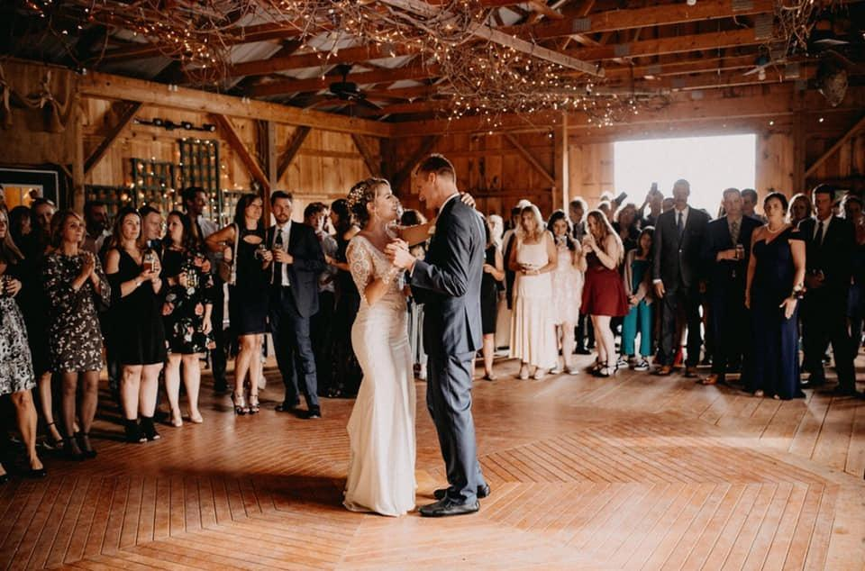 The Barn - The barn is complete with men's, women's , and handicapped accessible restrooms. There is a new wooden barn floor including a dance floor. There is lighting and decorations, and many different staging objects that you can use.