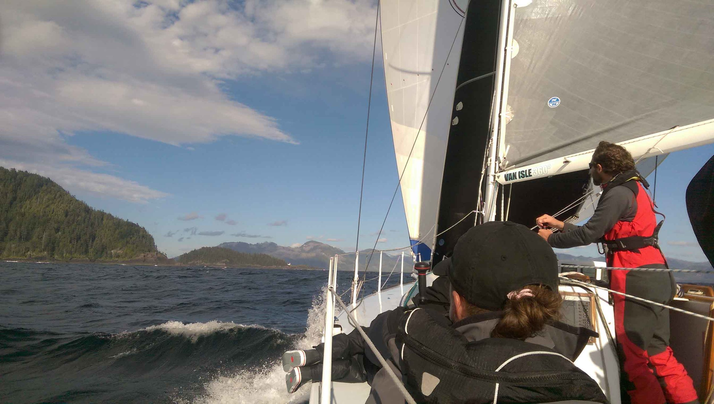 Ripping downwind to Winter Harbor.