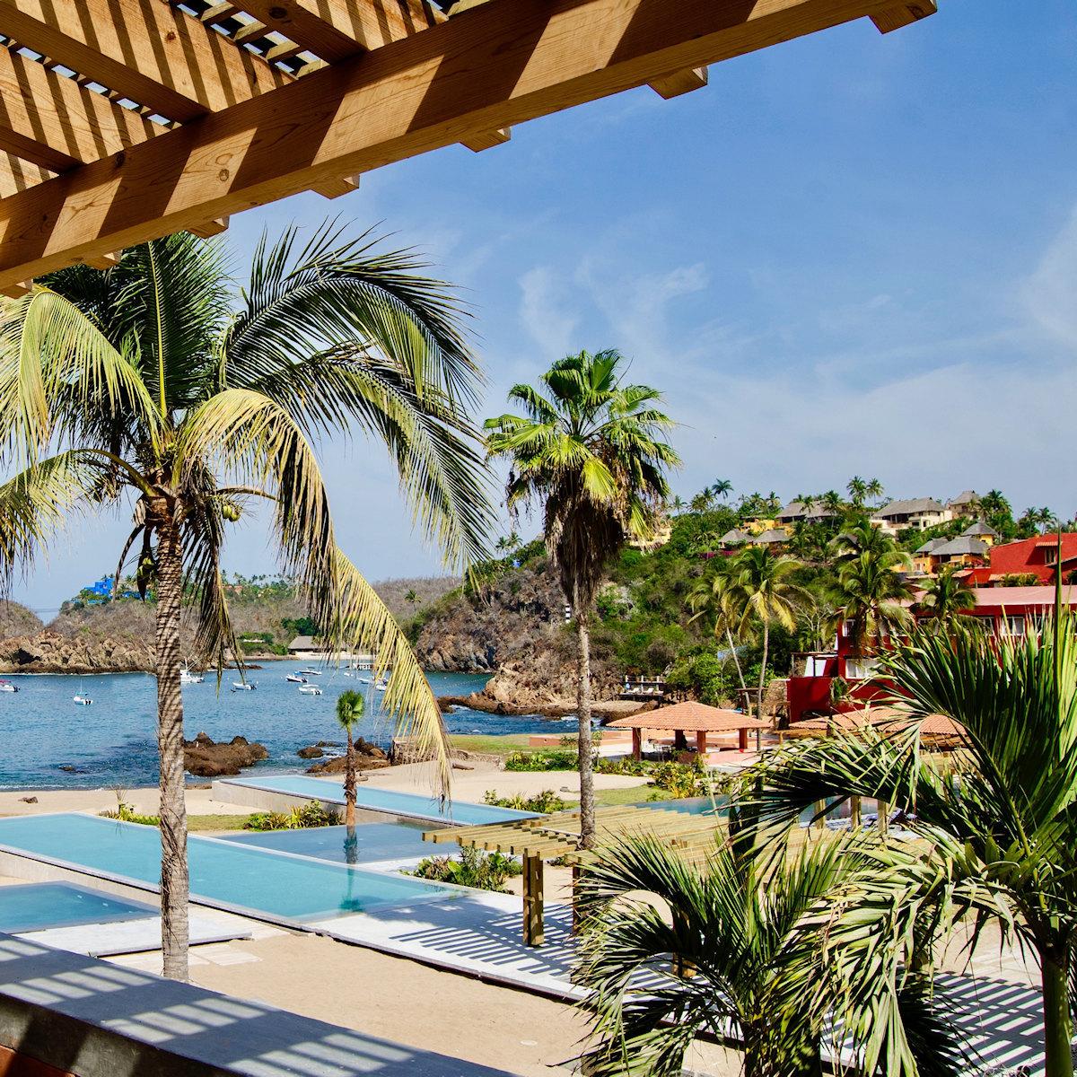 Balcony view El Careyes pools beach casitas mi ojo.jpg