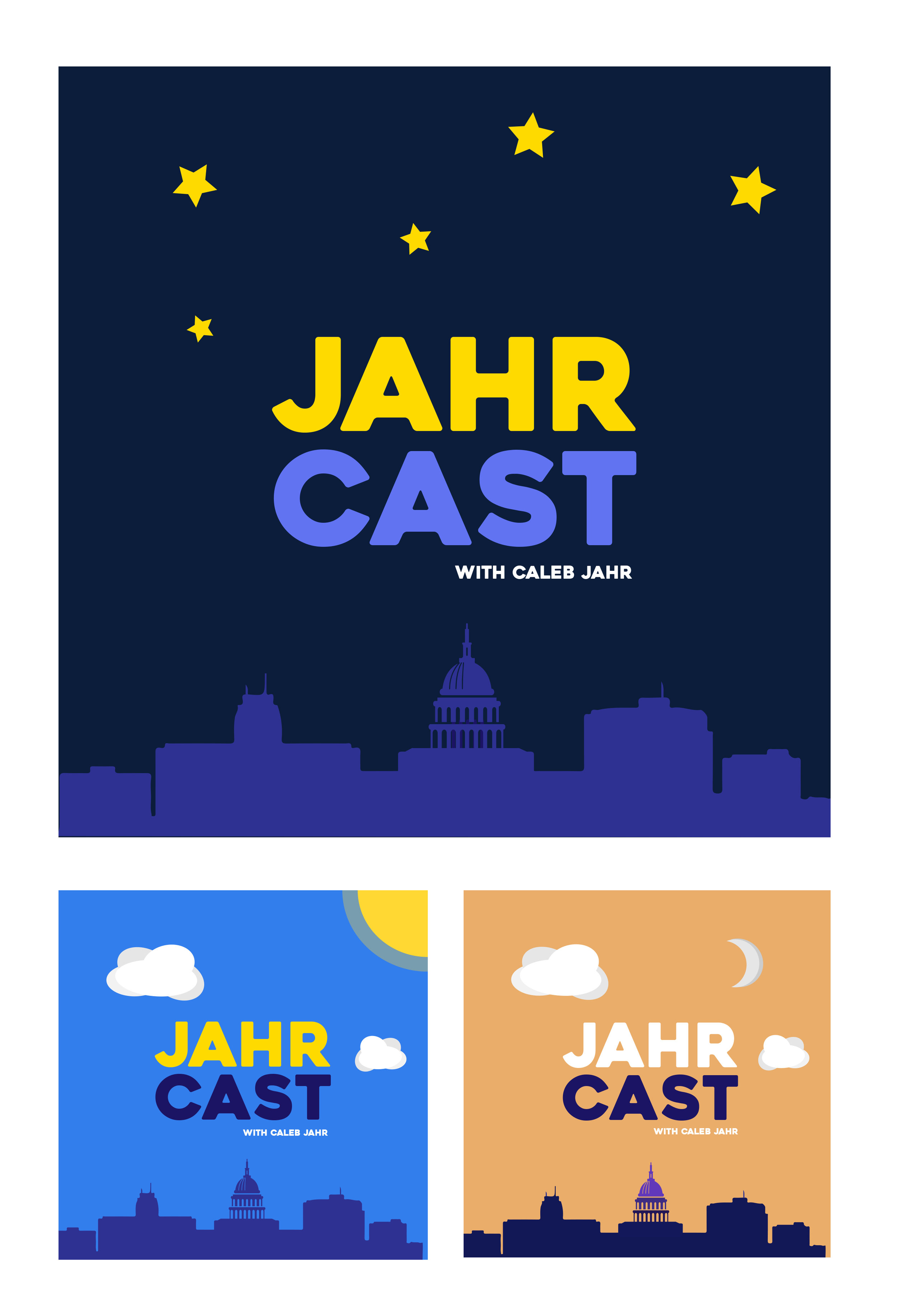 The Jahr Cast Podcast - Album artwork for a new podcast hosted by vlogger and realtor Caleb Jahr.