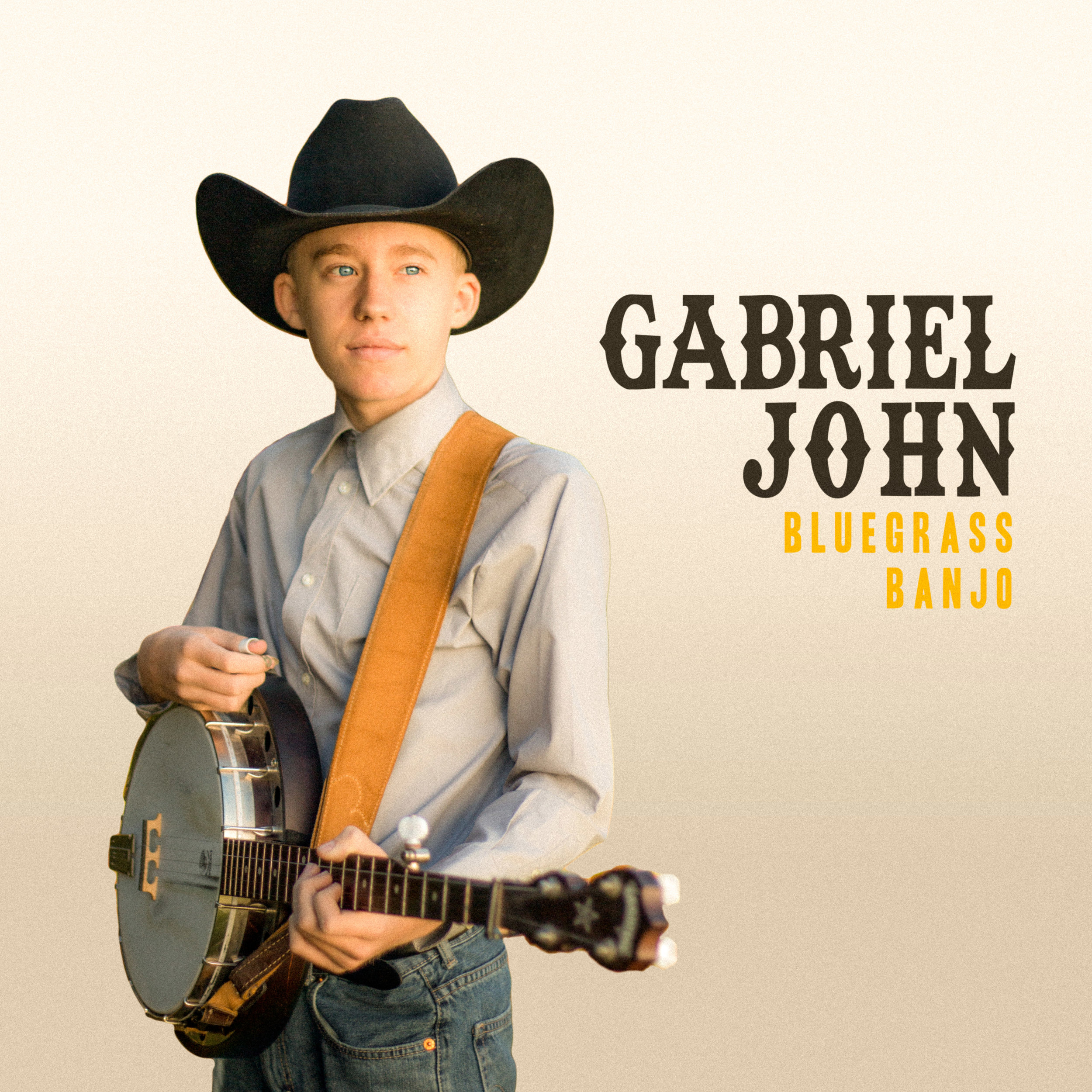 Gabriel John - Concept album artwork for bluegrass banjo player, Gabriel John.