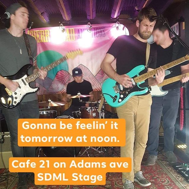 Awwwww yeah, we are stoked to play the #sdml stage @artaroundadams TOMORROW! On at noon 😎. Thank you @vvzarey and @sdmusicleague! We are playing with some hitters so check it out all day! @sweetmyths @planewithoutapilot @mainsailsd @polux1984 @retramusic @futurehumanmusic @floweranimals