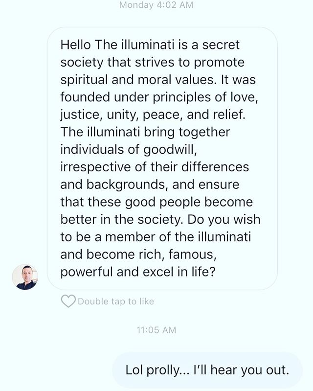 Haha I feel like @cherryroadband has made it to another level. Decided to have some fun with it 😂 #illuminatiwantmymindsoulandmybody 🇺🇸