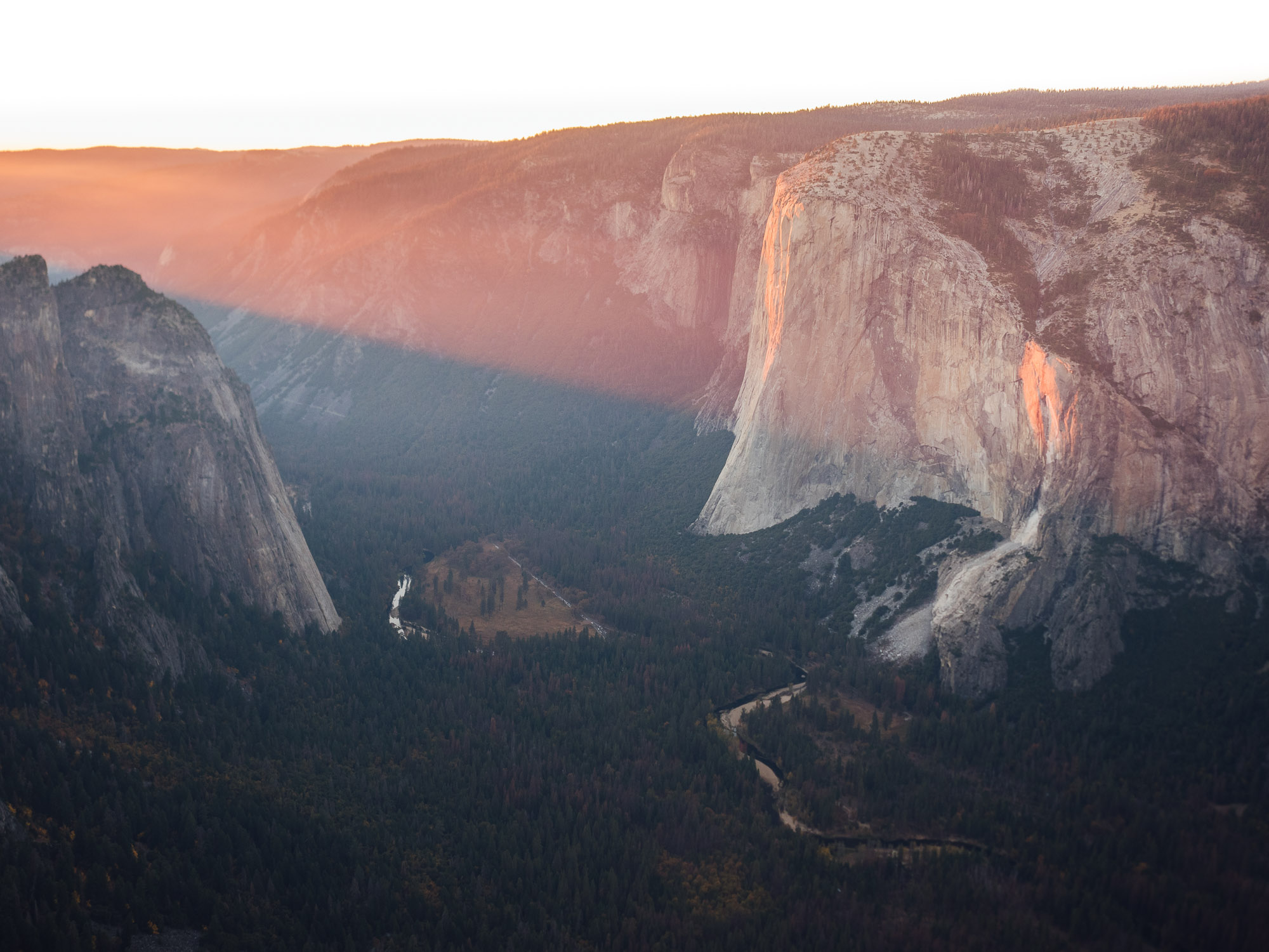 Middle Cathedral (left) and El Capitan.
