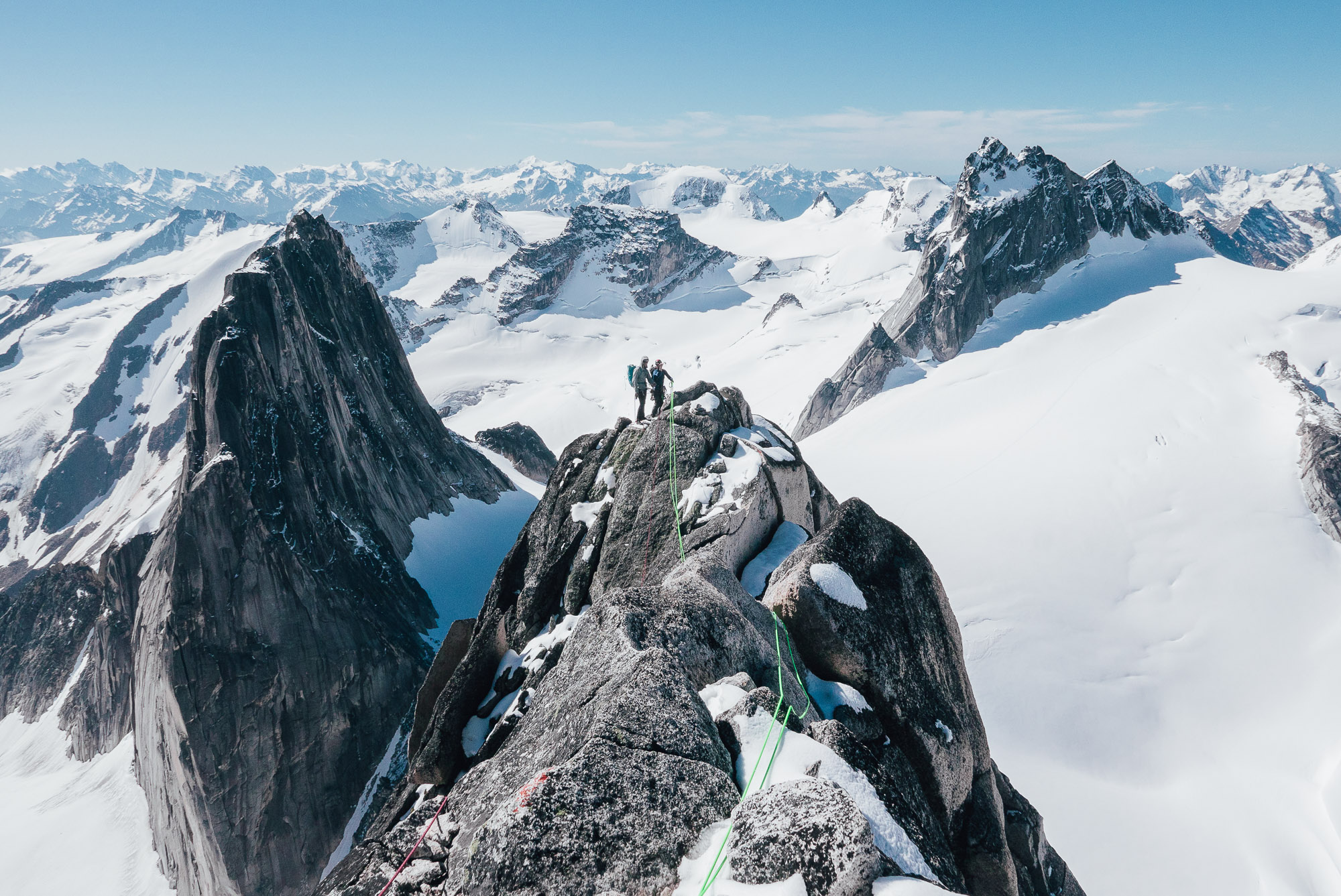 Descending the Kain Route on Bugaboo