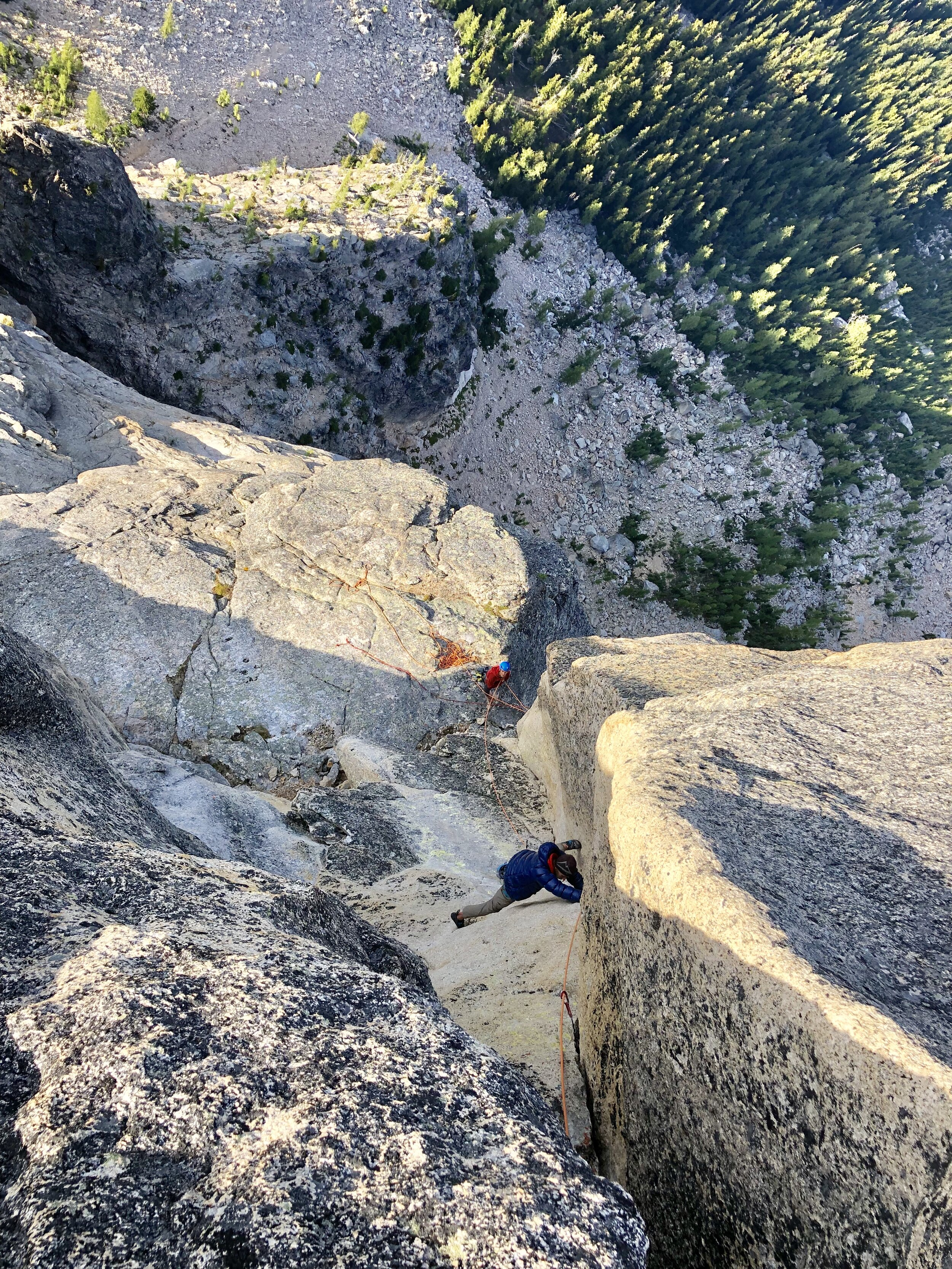 Blake Herrington on the final steep 5.11 pitch.