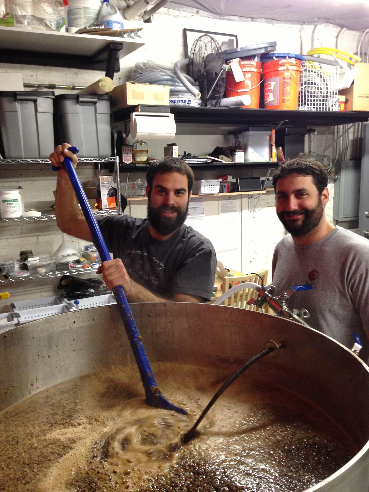 Brad & Jason on their first official brew day