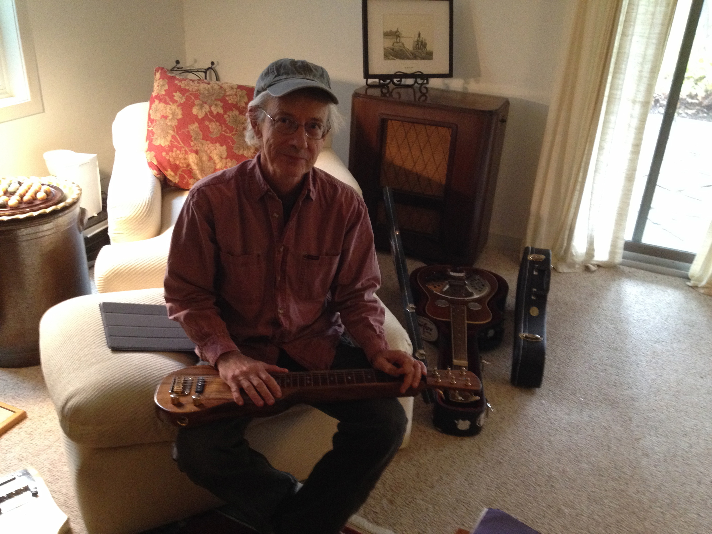 Dan Bonis and his lap steel guitar