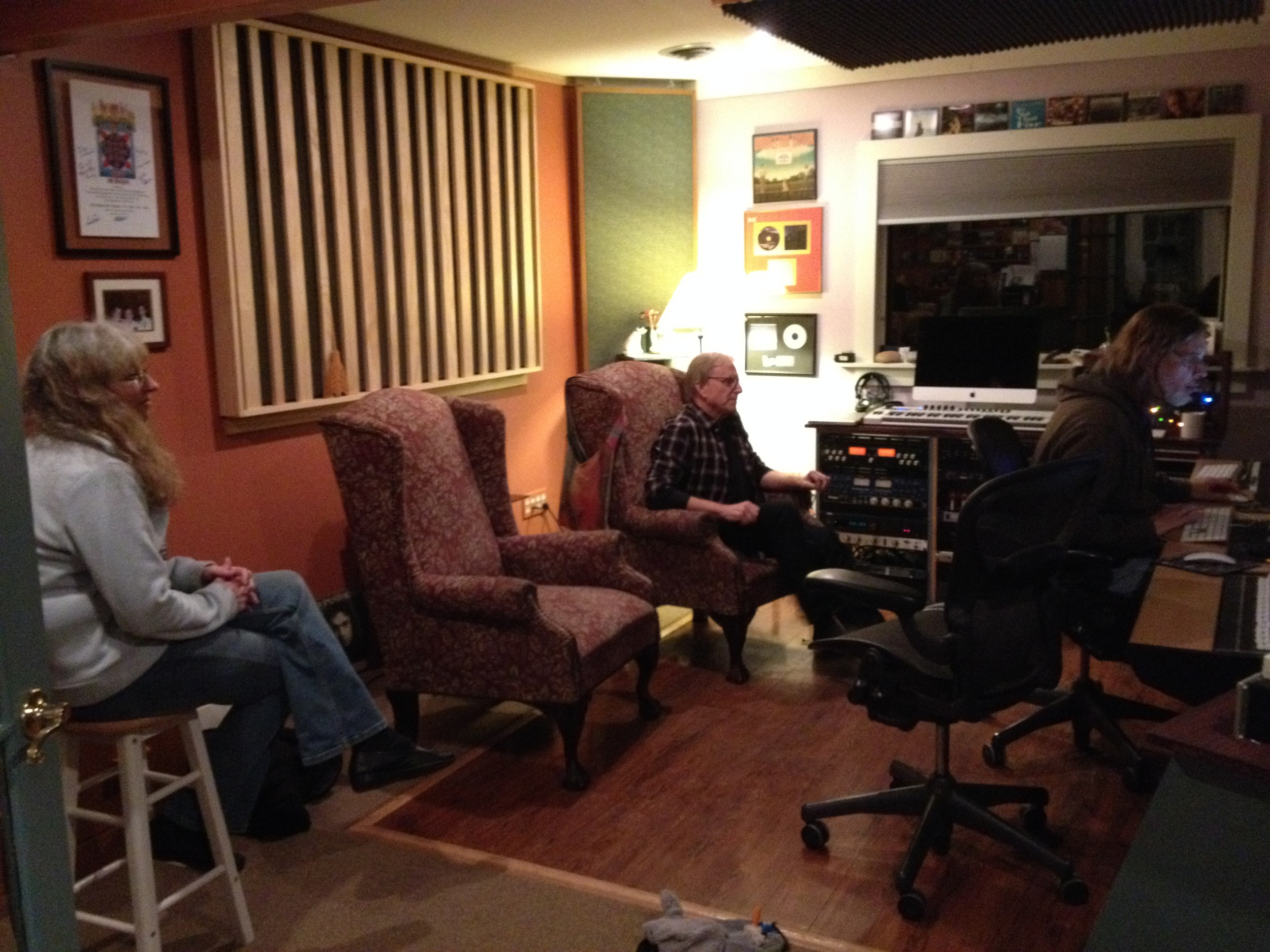 Beth, Rick, and Scott at NRS Studio