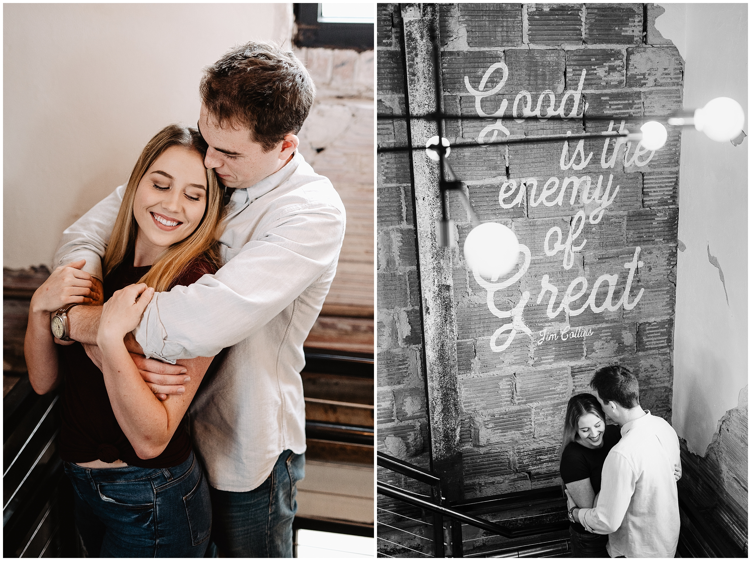 oklahoma wedding photographer date night engagement ice cream kaisers halls pizza kitchen fun shoot midtown okc