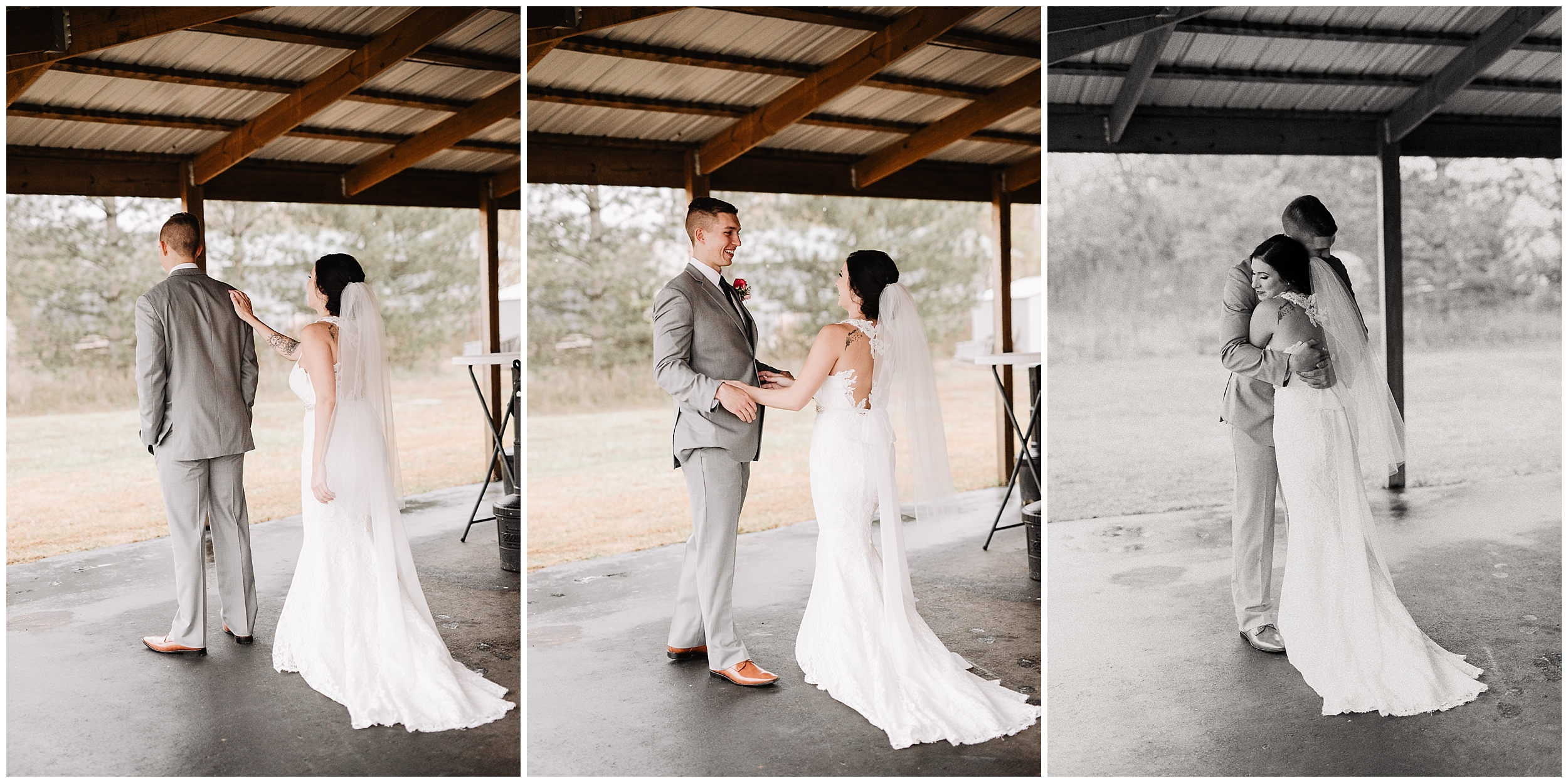 oklahoma wedding photography first look bride groom wedding day sweet viola kansas rustic pines