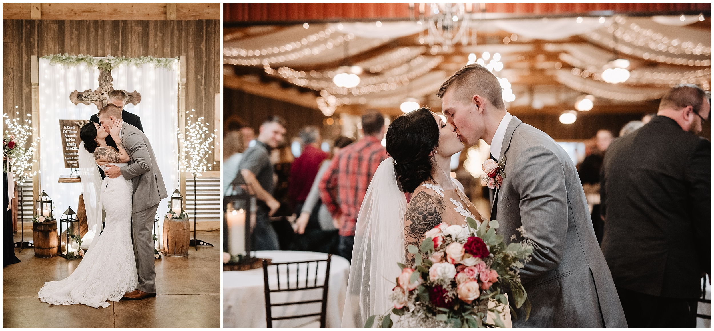 oklahoma wedding photographer ceremony marriage processional  viola kansas rustic timbers ceremony aisle bouquet kiss cross