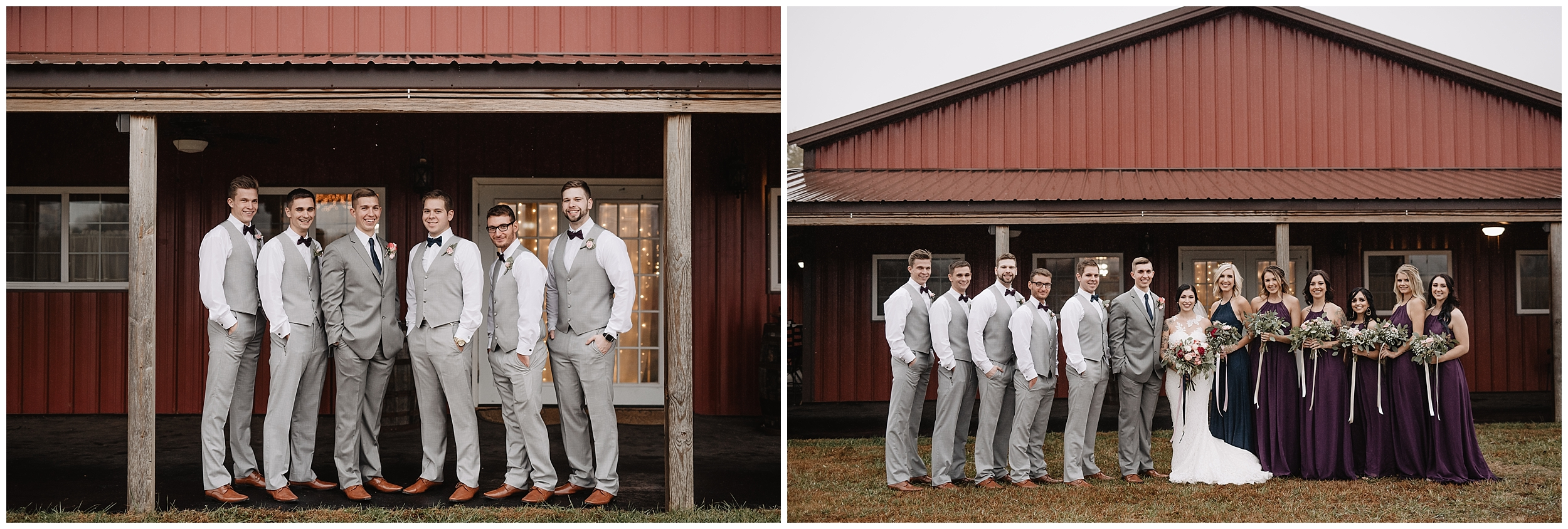 wedding portraits oklahoma wedding photographer outdoors wedding party bridesmaids groomsmen  oklahoma wedding photographer bride groom wedding day outside viola kansas rustic timbers