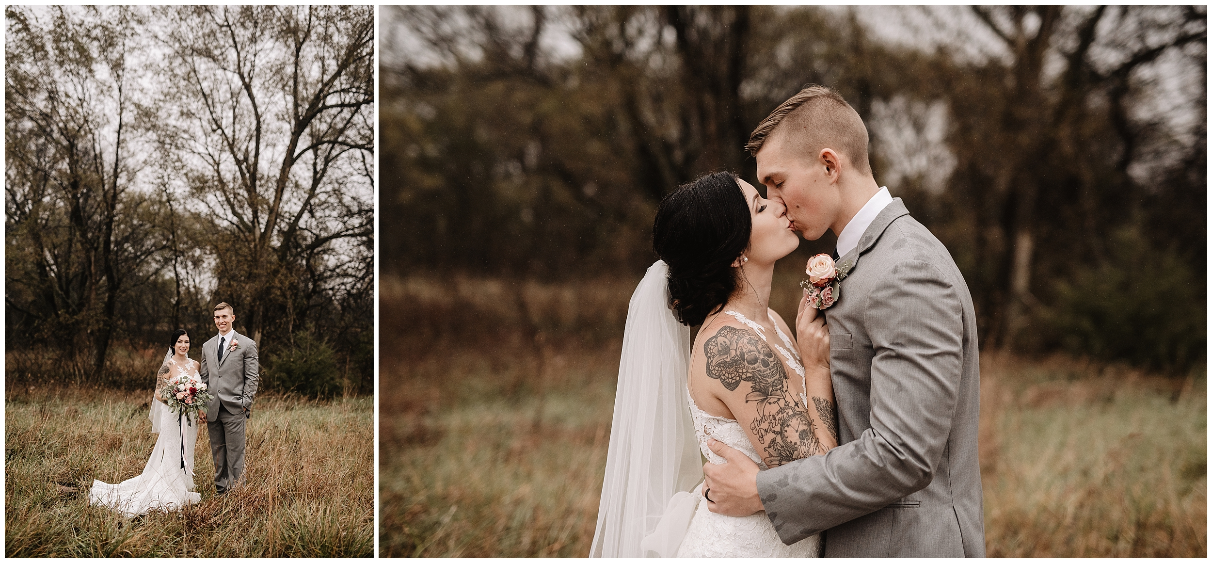 oklahoma wedding photography first look bride groom wedding day sweet rustic timbers outdoor viola kansas overcast rain