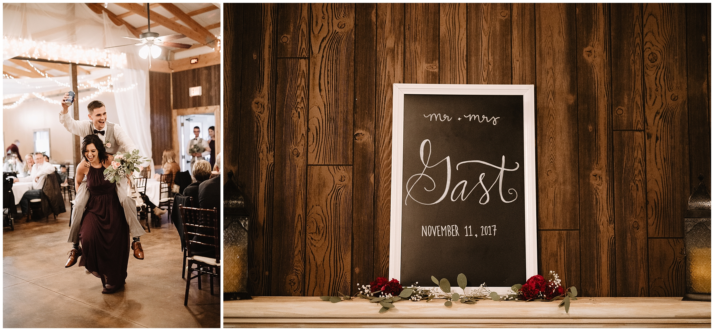 wedding photographer oklahoma reception decorations decor champagne table arrangements mr mrs mr. mrs.  viola kansas rustic timbers