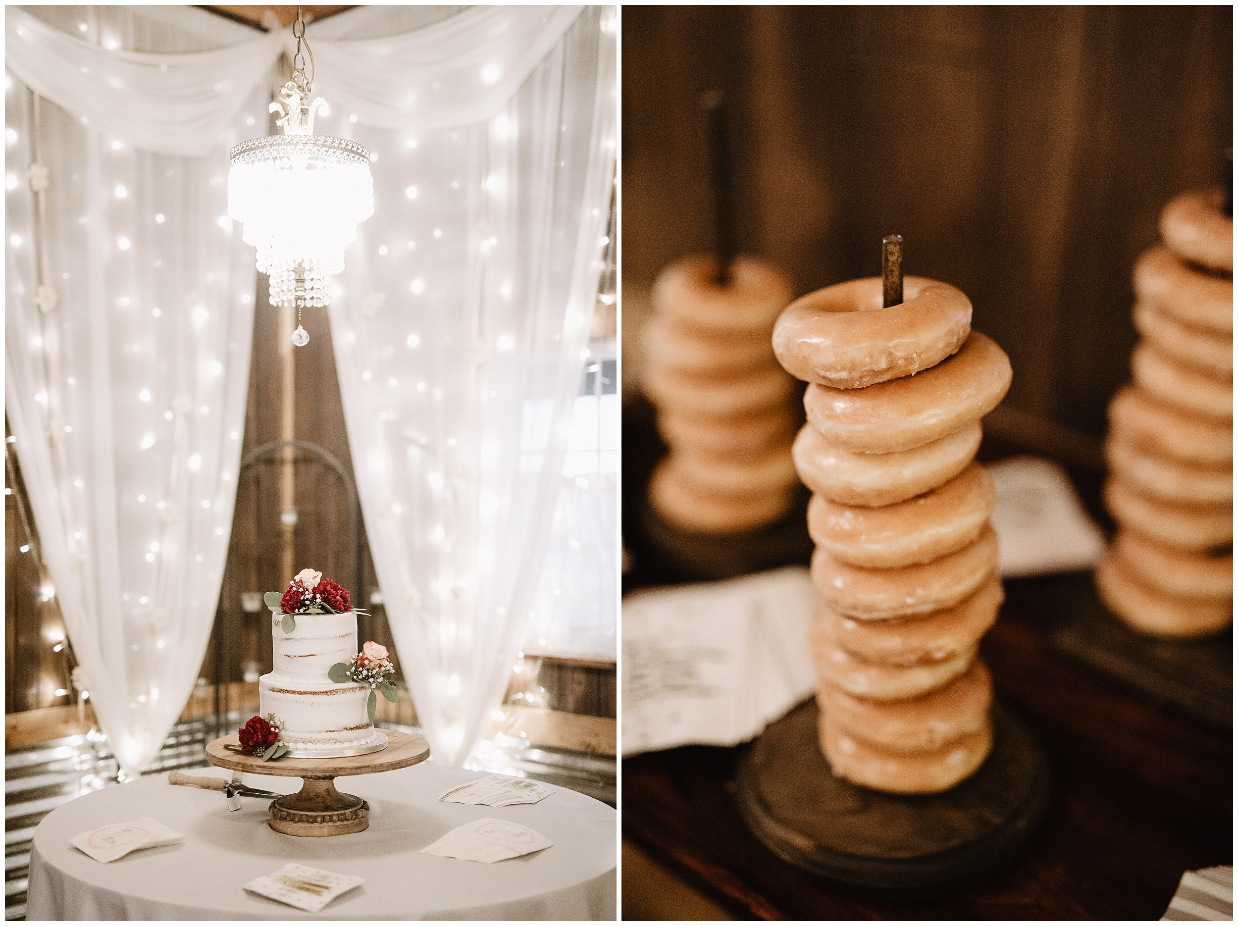 wedding photographer oklahoma reception decorations decor champagne table arrangements mr mrs mr. mrs.  viola kansas rustic timbers donuts cake