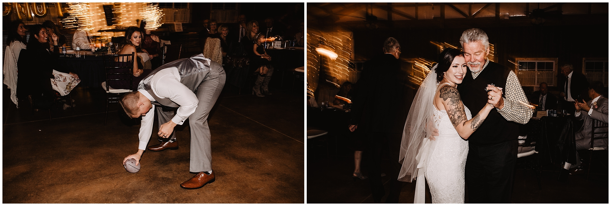 rustic timbers viola kansas oklahoma wedding photographer champagne toast friends family reception party dancing music kids