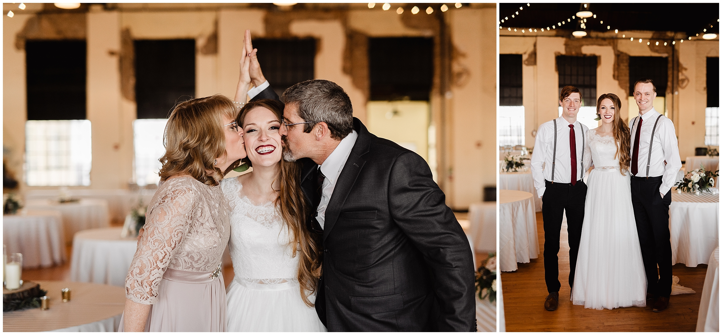 oklahoma wedding photographer first look family bride father brother bridal gown wedding day