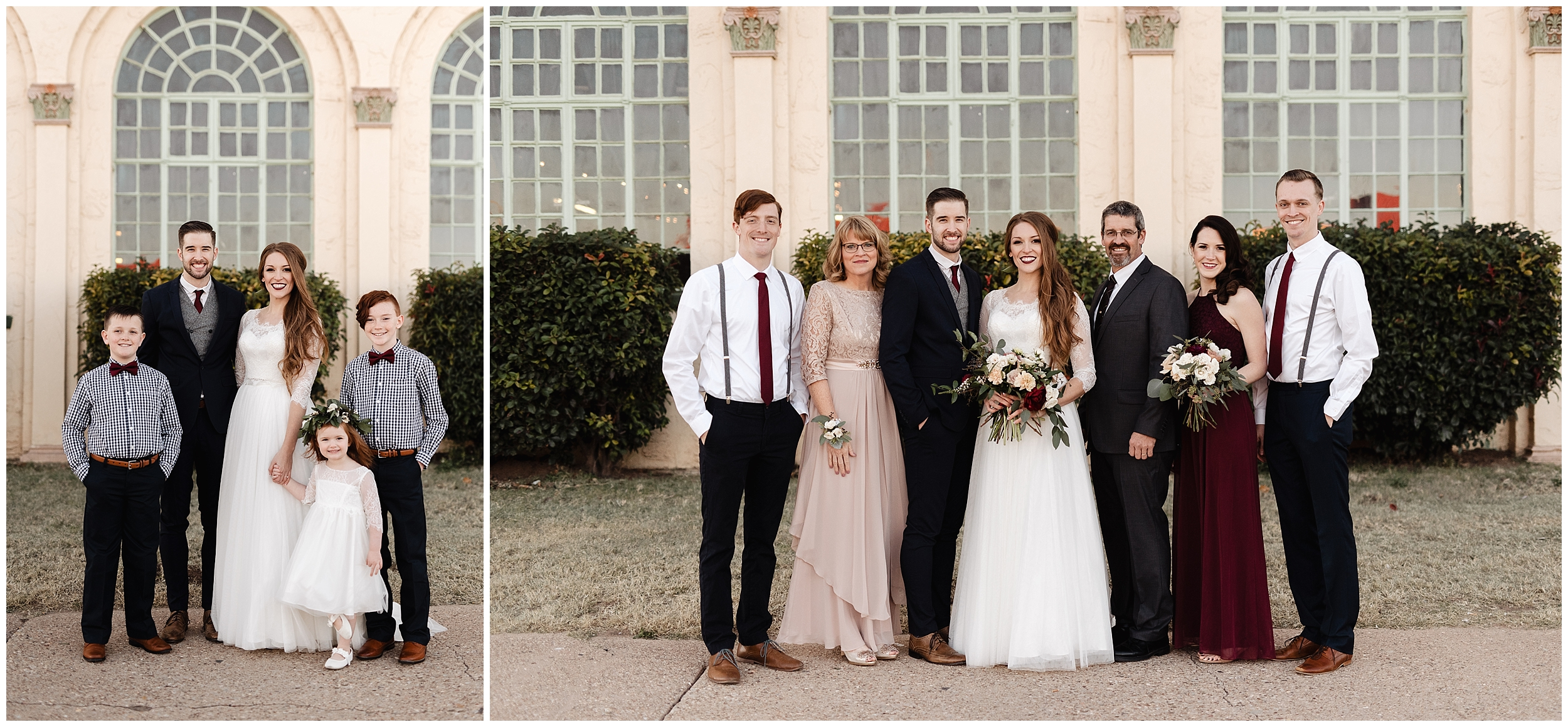 oklahoma wedding photographer family bride father brother bridal gown wedding day