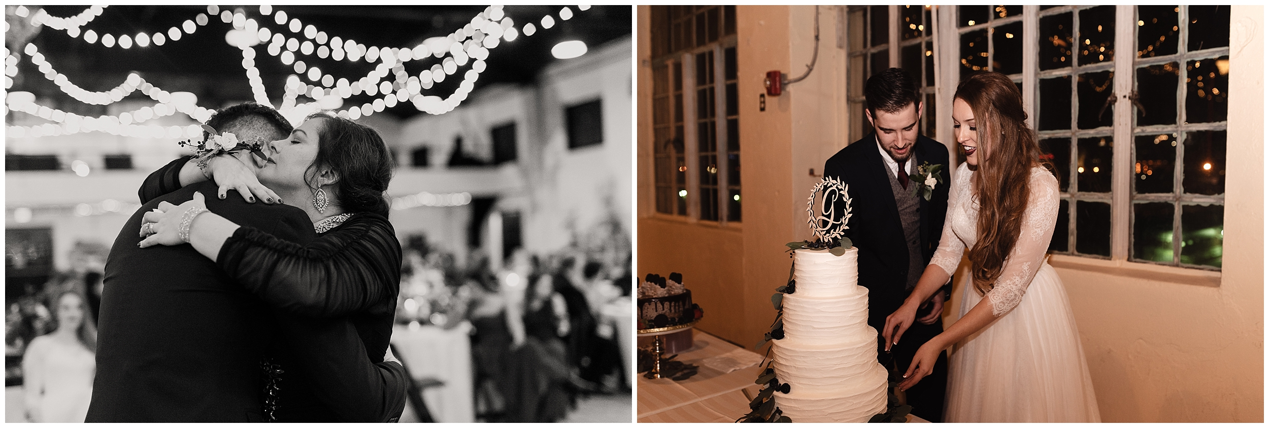 oklahoma wedding photographer reception family friends hugs congratulations best wishes toasts cake cutting