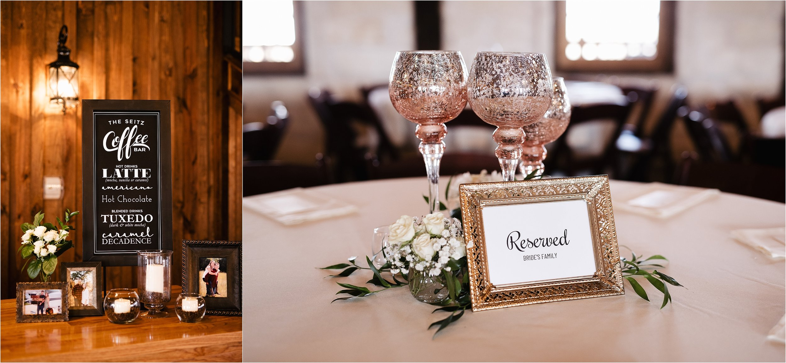 wedding photographer oklahoma reception decorations decor champagne table arrangements table numbers food