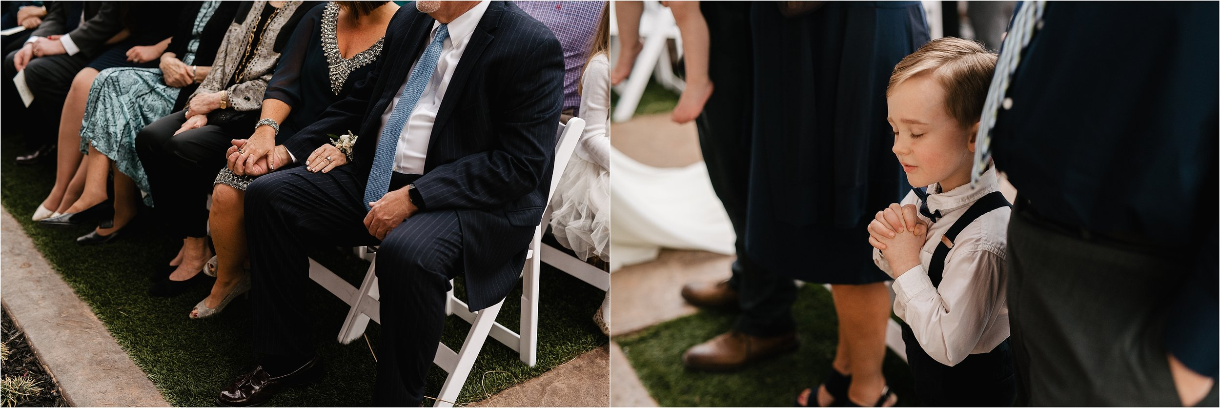 the springs norman oklahoma city wedding photographer outdoor ceremony reception wedding venue overcast family friends ring bearer