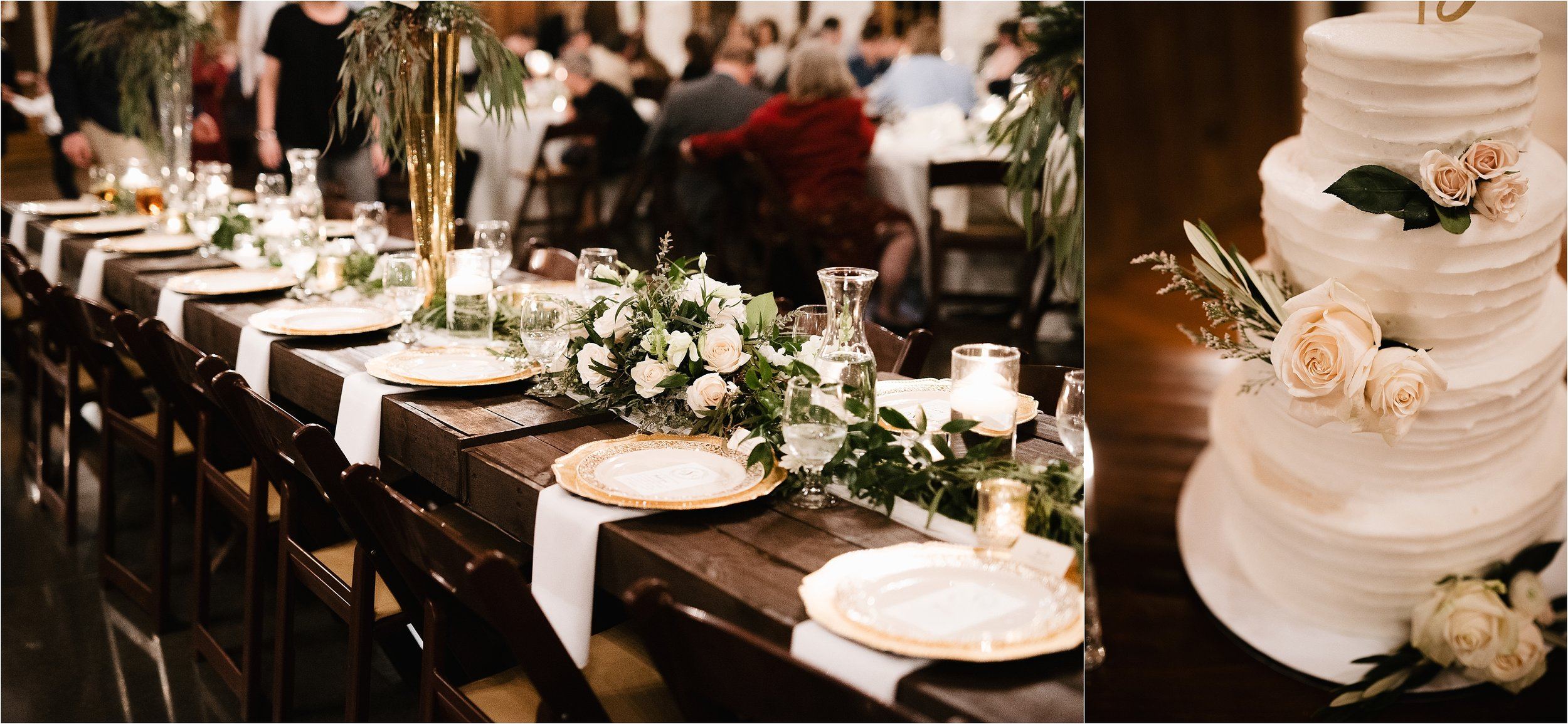 wedding photographer oklahoma reception the springs norman okc reception table settings decor decorations centerpieces florals flowers candles cake
