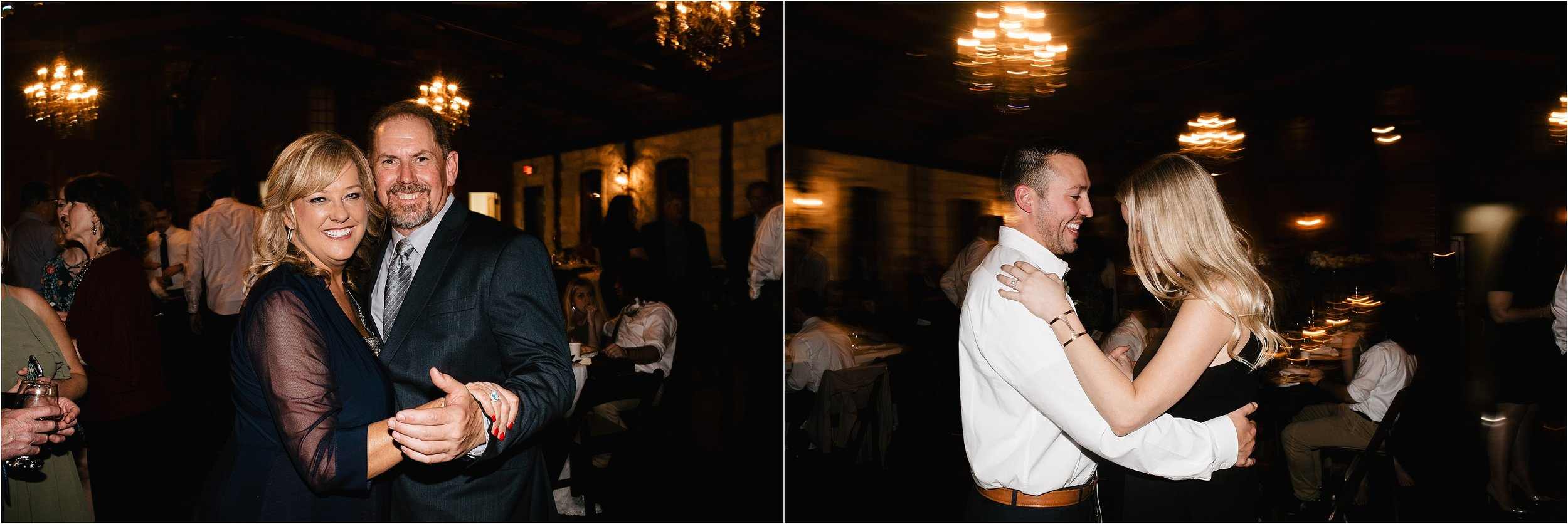 oklahoma wedding photographer reception family friends hugs congratulations best wishes toasts dancing the springs norman okc