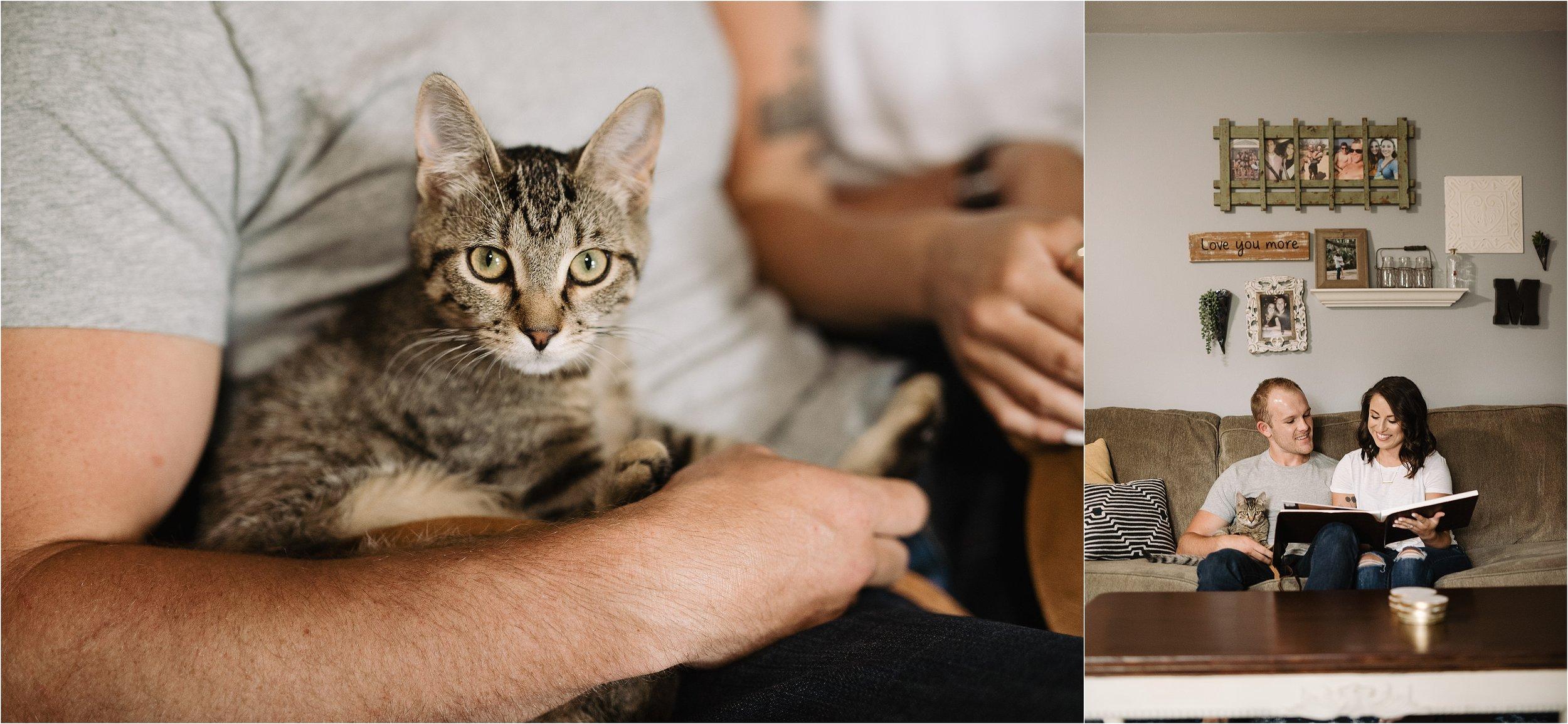 anniversary photos session oklahoma wedding photographer outdoors fall edmond okc wichita kansas norman wedding album at home in home cats