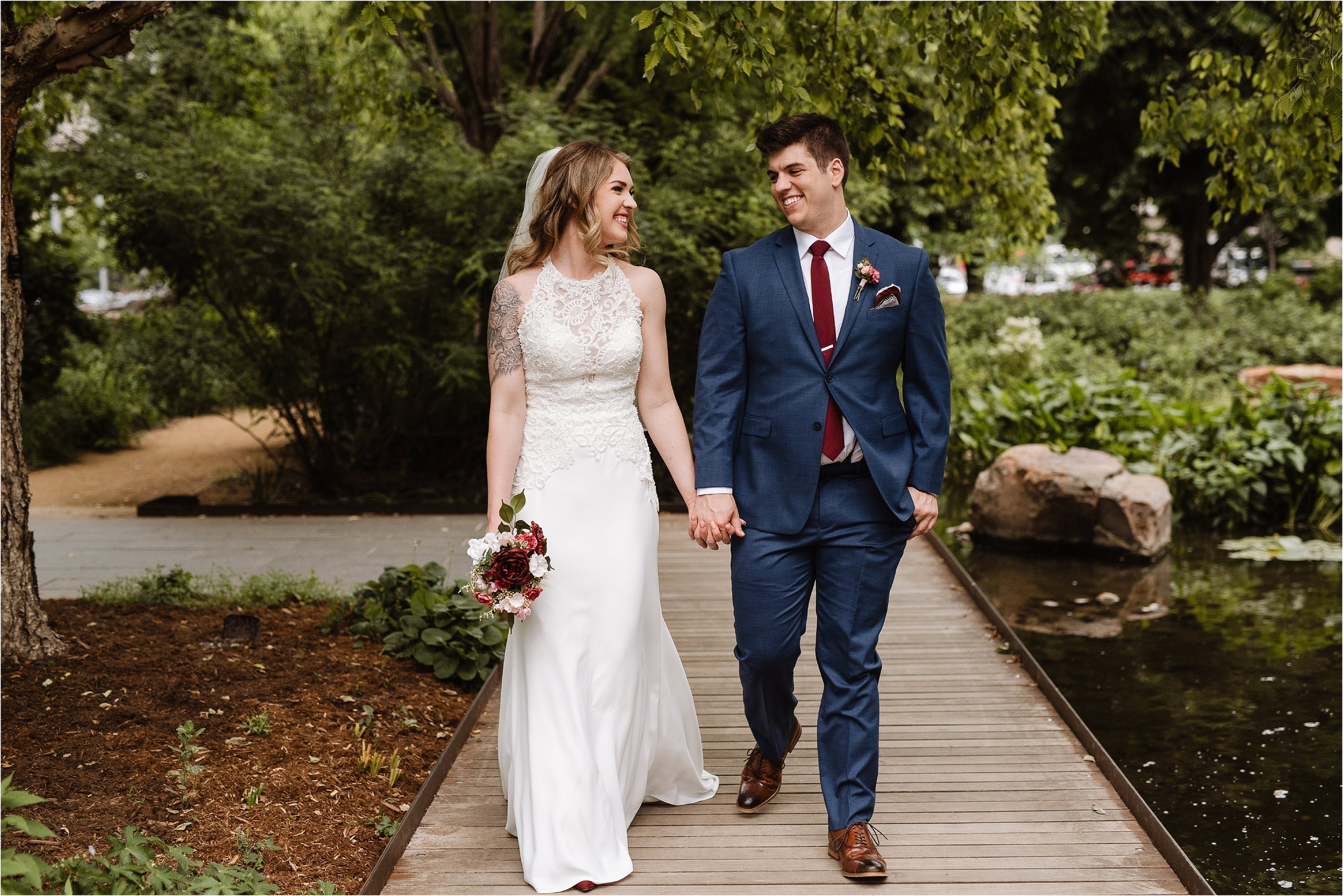 Romantic Garden Wedding in Oklahoma City at Myriad Gardens