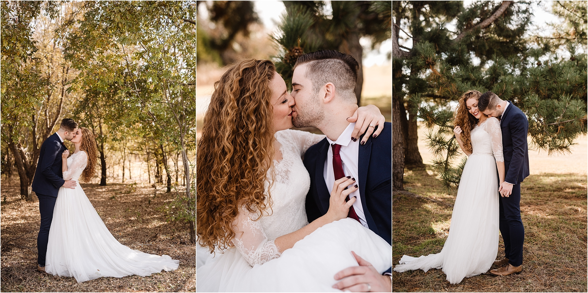oklahoma wedding photographer bride groom wedding day outside