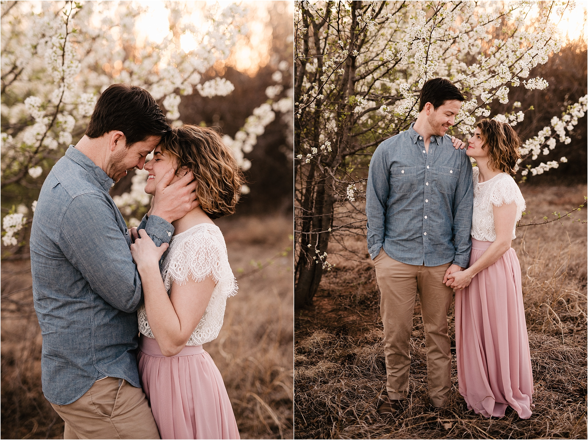 engagement photos session oklahoma wedding photographer outdoors spring edmond okc anniversary what to wear natural flowers