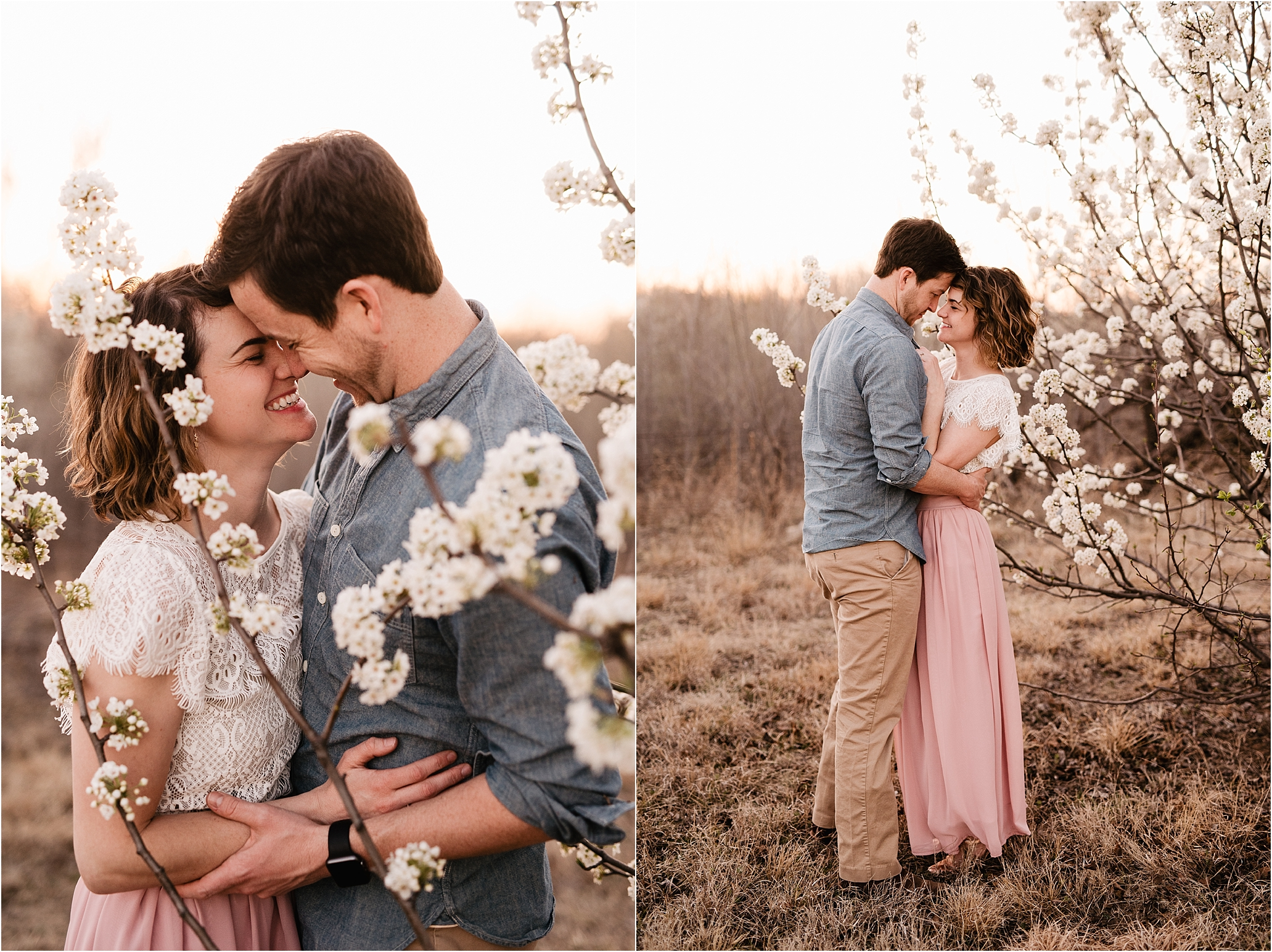 engagement photos session oklahoma wedding photographer outdoors spring edmond okc anniversary what to wear natural