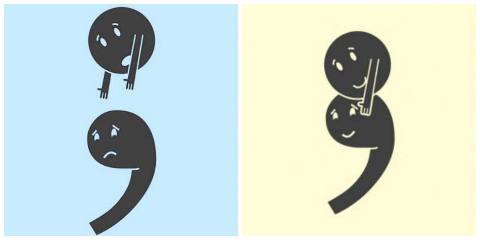 Semicolon project art