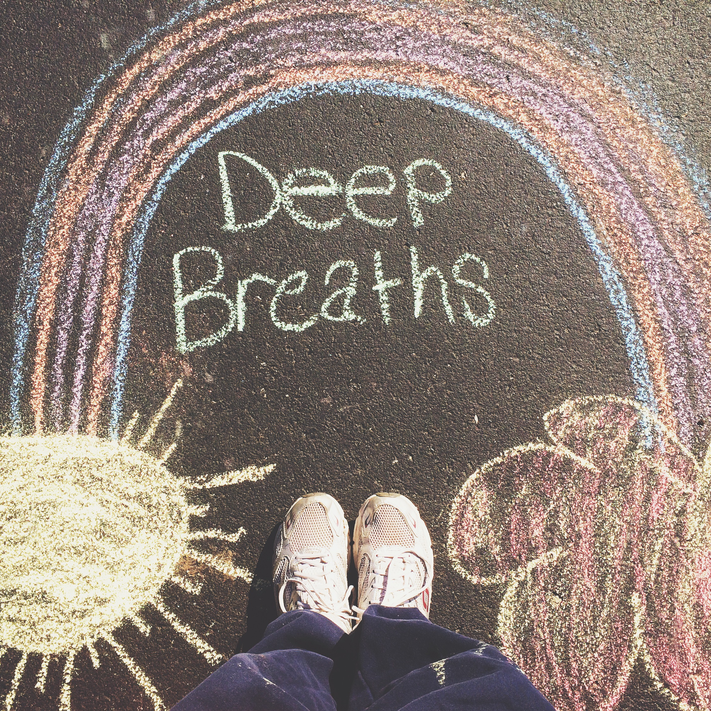 "My Sidewalk Creations On my ""Deep Breaths"" Walk"