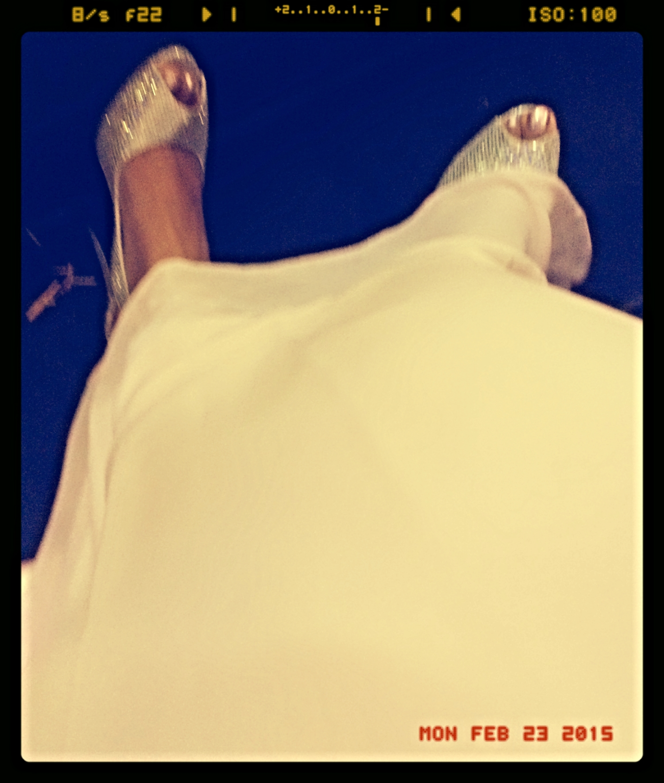 Shoefie! Sparkly silver shoes and glitter toes!!