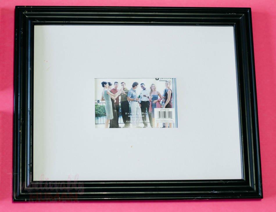 Signature board picture framed